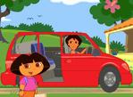 dora坐車冒險