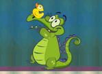 鱷魚找小鴨